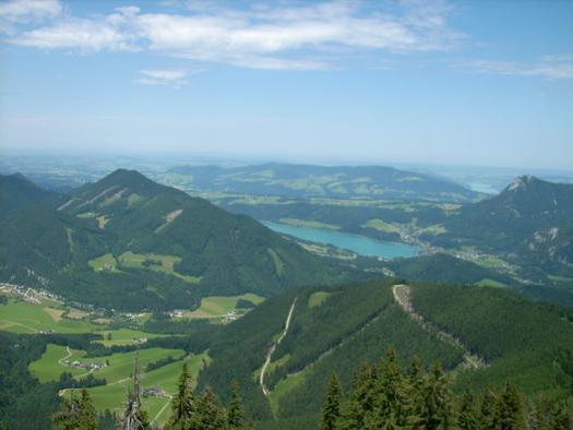 Blick vom Schafberg zum Fuschlsee (© Tourismusverband Faistenau)