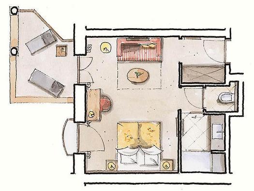 Zimmerplan `Alpenrose`