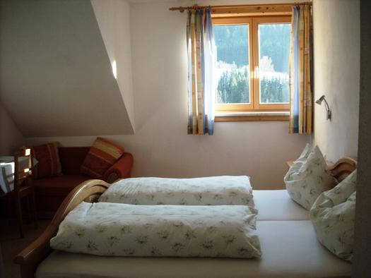 Das gemütliche Bett und dieser Ausblick