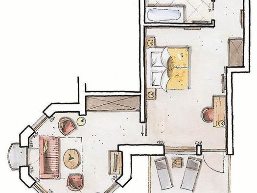 Zimmerplan `Turmsuite`