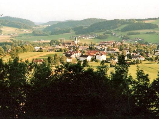 Blick auf Aigen vom Kalvarienberg (© privat)