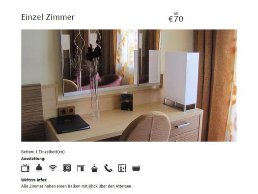 Einzelzimmer (© Hotel Attersee, Fam. Conti)