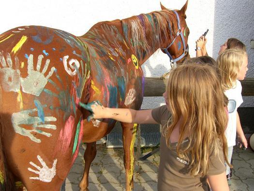 wunderbare Pferde und Kinder