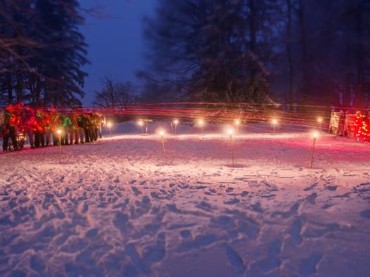 Fire&Ice - Bogenschießen bei Fackelschein und Glühmost. (© Bogensportzentrum Breitenstein)