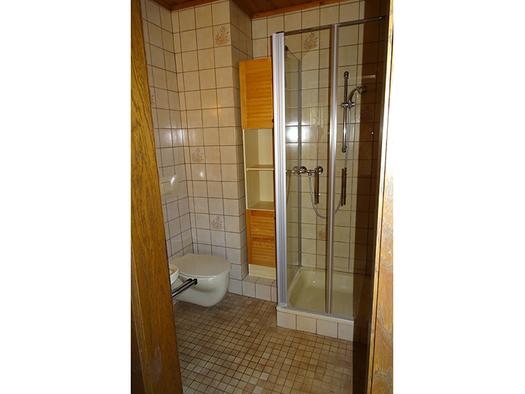 Dusche, Toilette. (© Gästehaus Pichler)