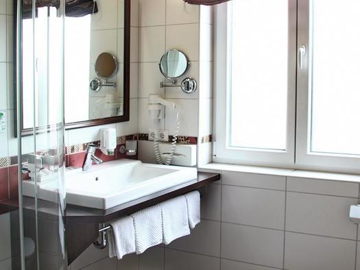 Badezimmer Hotel Alexandra (© Hotel Alexandra & Bayrischer Hof)