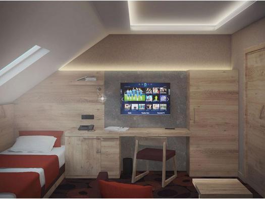 Deluxe Schlafzimmer mit 2 Einzelbetten