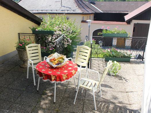 Terrasse Gasthaus Stampf Attergau - Salzkammergut.