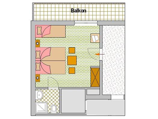 Zimmerplan Tulpe (© Pension Haus Helene)
