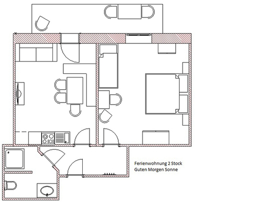 Floorplan of the apartment. (© Winter)