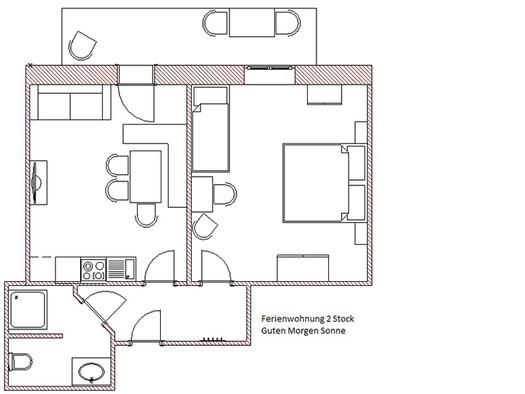 Grundriss von der Wohnung. (© Winter)