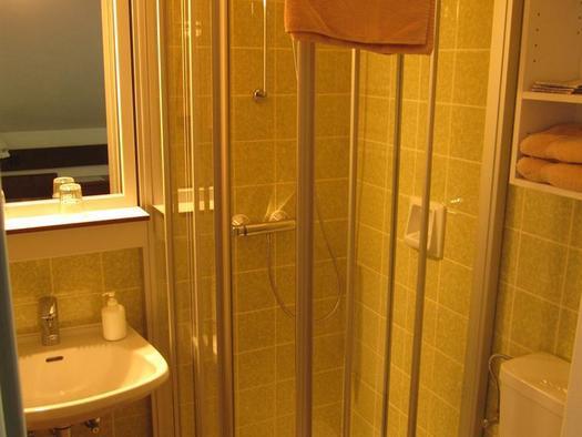 Badezimmer mit Dusche-WC (© Berghof Sturmgut)