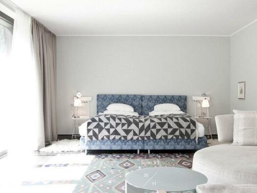 Doppelbett (© Hotel-Restaurant Mühltalhof)