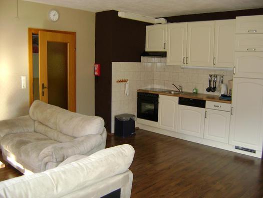 Wohnzimmer 6pers Ferienwohnung Apartmenthaus Hinterer.