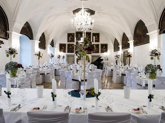 Schloss Weinberg, Rittersaal. (© Markus Neuburger, NEUDESIGN)