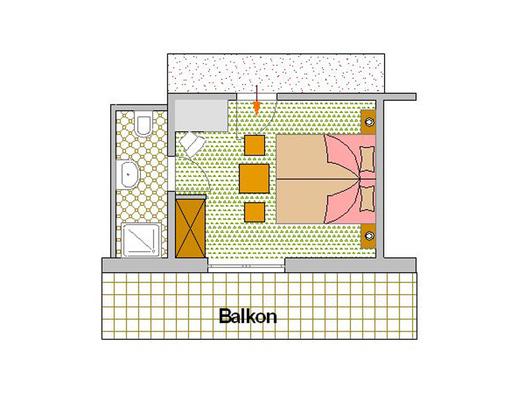 Zimmerplan Sonnenblume (© Pension Haus Helene)
