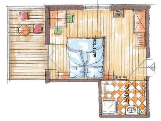 Skizze Nebenhauszimmer. (© Familie Soriat)