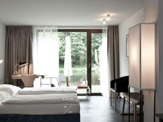 Suite mit Blick auf den Fluss (© Hotel-Restaurant Mühltalhof)