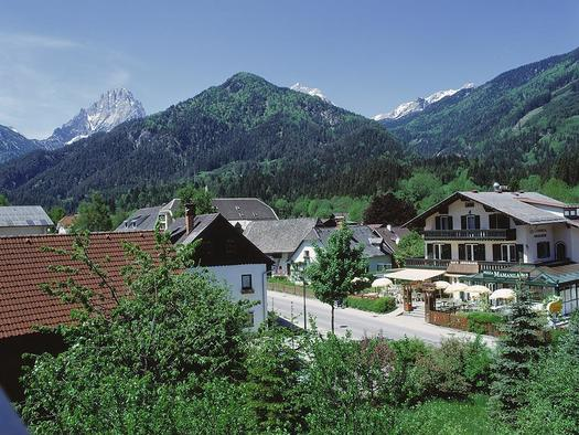 Dorfblick vom Hotel Garni Wallner Hinterstoder
