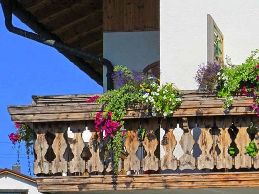 blick auf den Balkon von der Ferienwohnung \