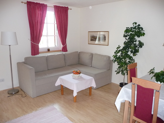 Wohnzimmer - Appartement 4 (© Pension Alpenblick - Faistenau)