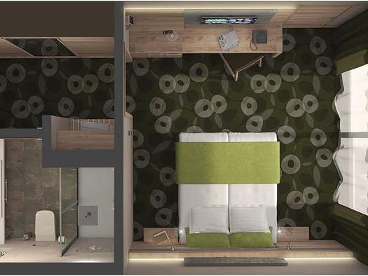 Planskizze Komfort-Doppelzimmer
