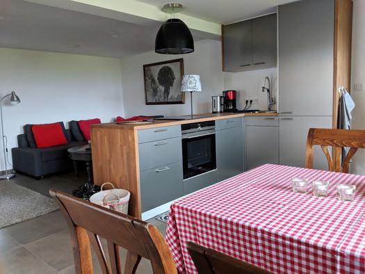 Wohnung Bachrauschen - Küche mit Essplatz (© dasGams)
