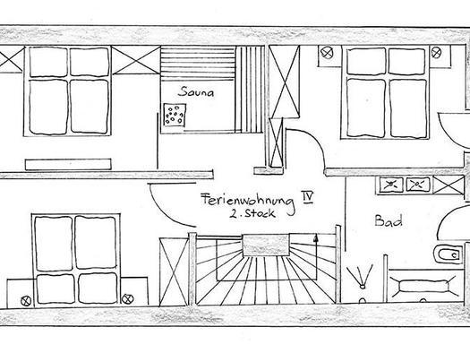 Holiday apartment 4 at the second floor (© Bramsauerhof Faistenau)