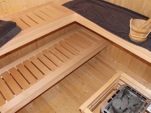 Sauna, Garten Hinterer Apartmenthaus.