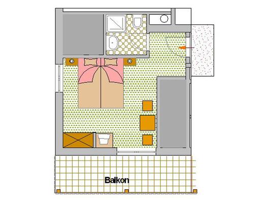 Zimmerplan Rote Rose (© Pension Haus Helene)