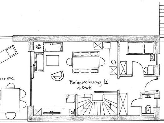 Holiday apartment 4 at the first floor (© Bramsauerhof Faistenau)