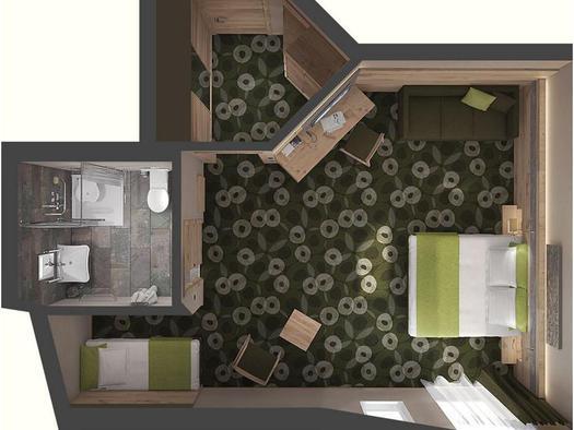 Lageskizze Deluxe Familienzimmer