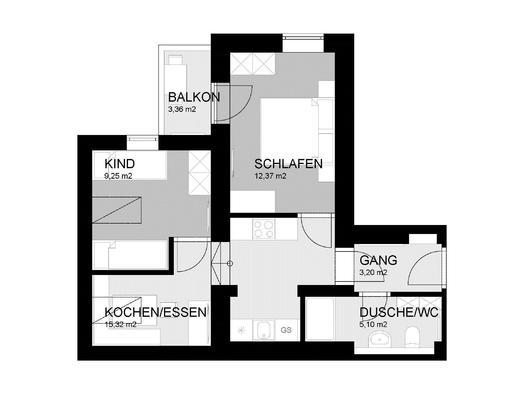 Zimmerplan FeWo Wiesenblick (© Familie Stöllinger)
