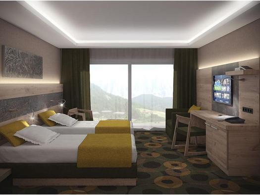 Doppelschlafzimmer Familienresidenz (© Famiien- und Sport-Resort AIGO)