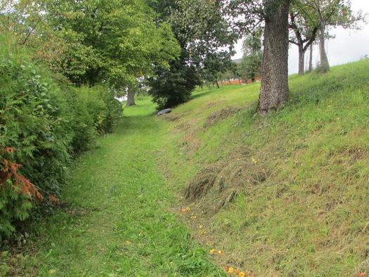 Spazierweg neben dem Haus-Rundweg mit Panoramablic