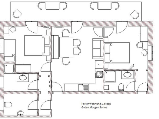 Plan of the room Division of the apartment. (© Winter)