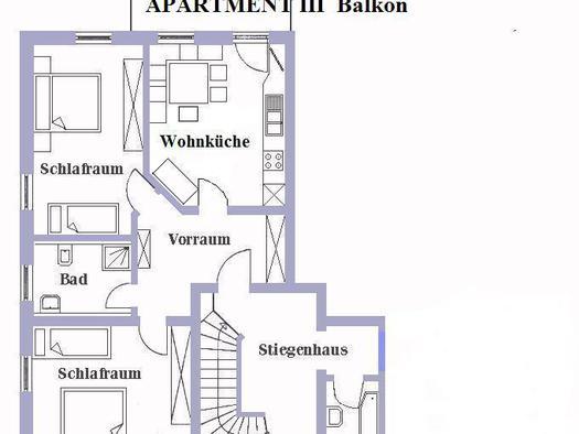 Apartment III  Wohnung Plan