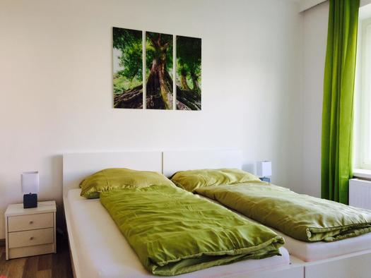 Bett Tag (© i-living Appartment)