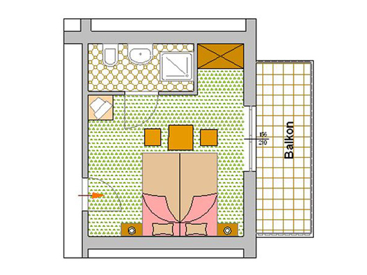 Zimmerplan Dahlie (© Pension Haus Helene)