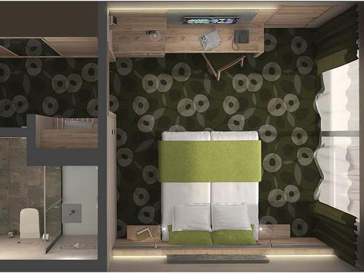 Doppelzimmer Kat.B, Plan