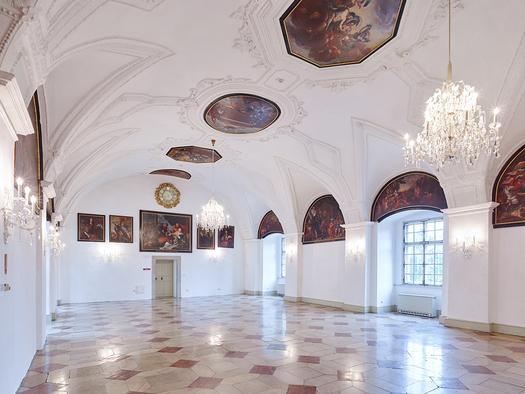 Schloss Weinberg, Rittersaal. (© Schloss Weinberg / Kurt Hörbst)