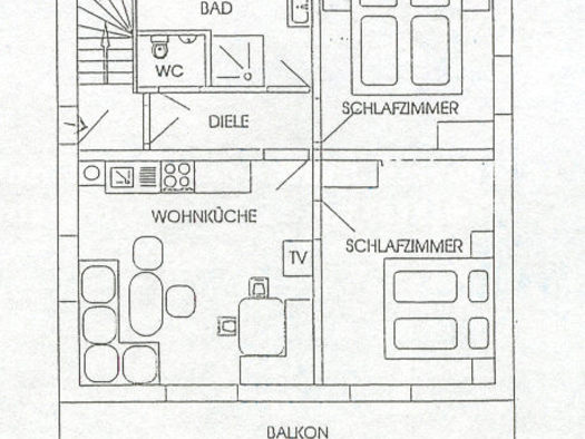 Apartment 2 Plan. (© Gudrun Loindl)