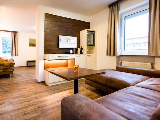 Beispiel Wohnraum Suite. (© Katharina Wisata / Elisabeth Poringer)