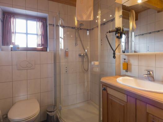 Panoramhütte Badezimmer