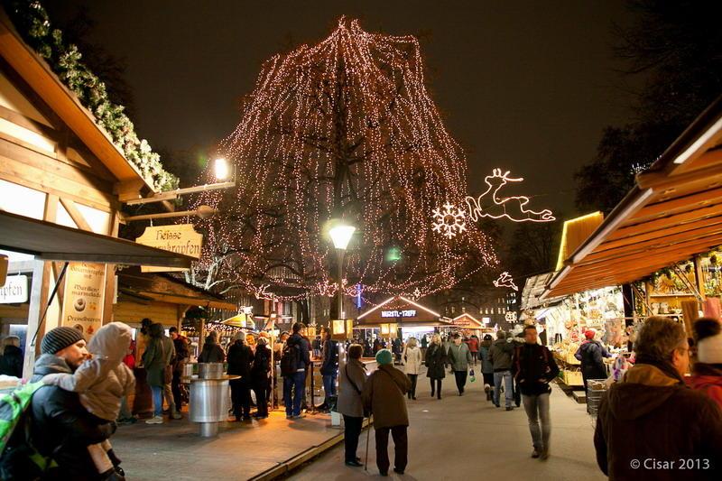 Weihnachtsmarkt am Volksgarten