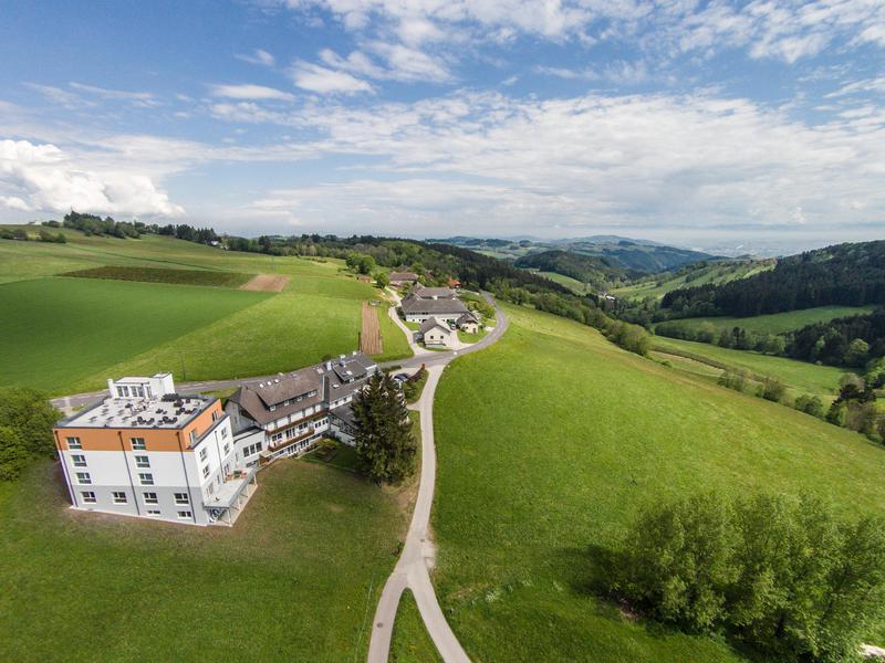 Seminarhotel Alpenblick von oben