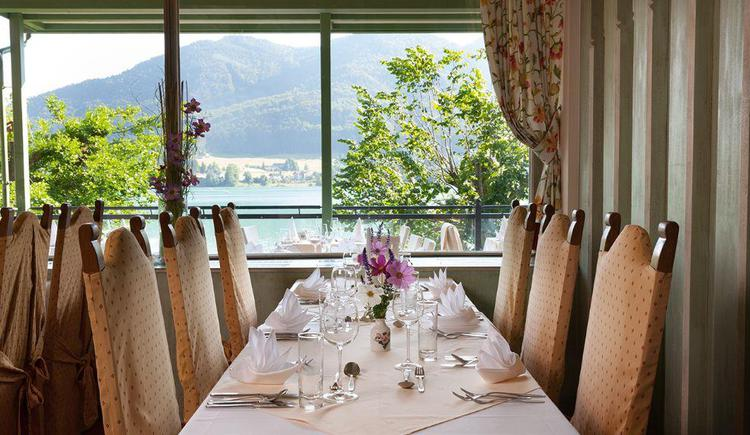restaurant with beautiful view over the lake