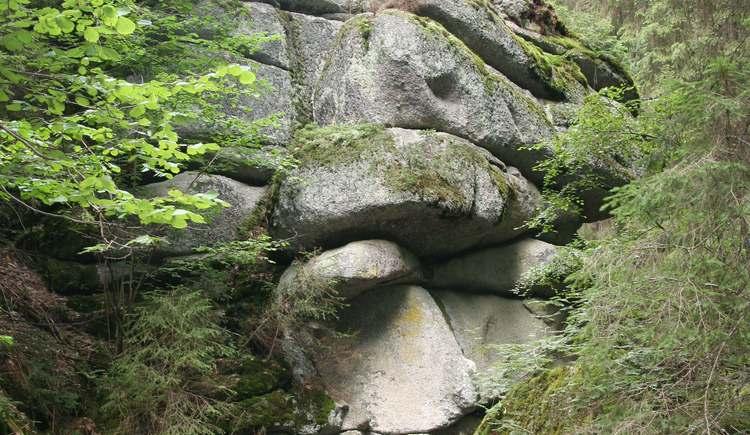 Steinformation Klammleiten (© Tourismusverband Königswiesen)
