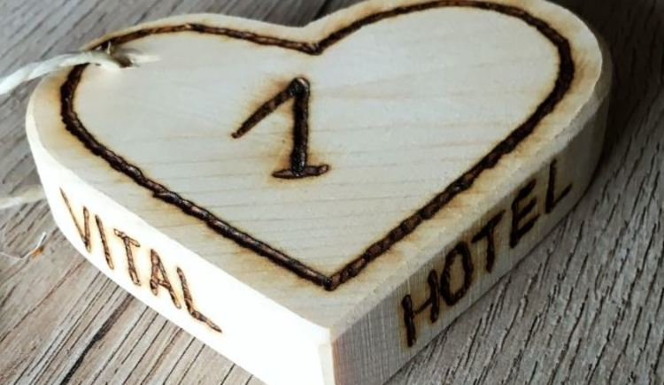 Here you can see a sweet heart with the number of the Apartment on it.