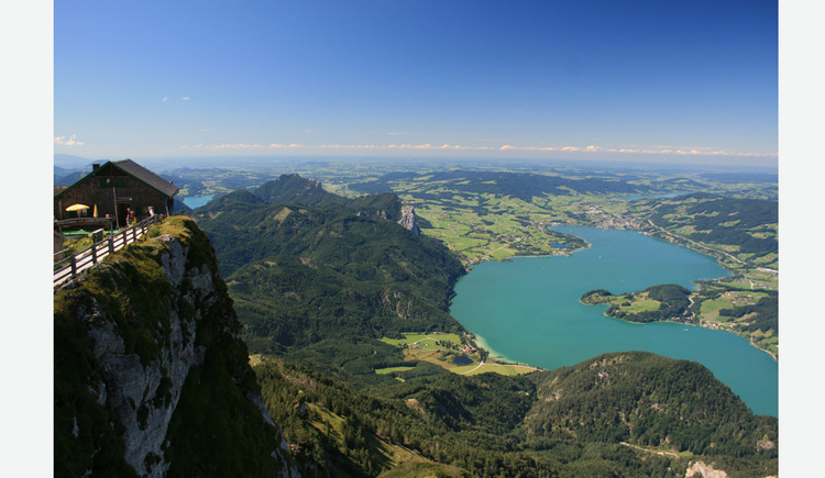 View from Schafberg of the lake, Mondsee